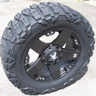 20 Black XD Rockstar Wheels Nitto Mud Grappler GMC Sierra 1500 Chevy