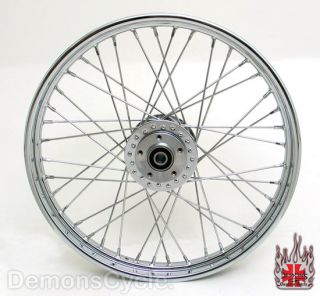 21 Chrome Front Wheel Spokes Rim Fits Harley Sportster