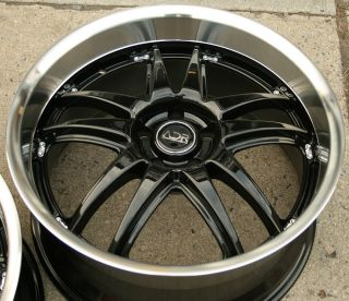 Adr Decadence 20 Glossy Black Rims Wheels Nissan Maxima Staggered