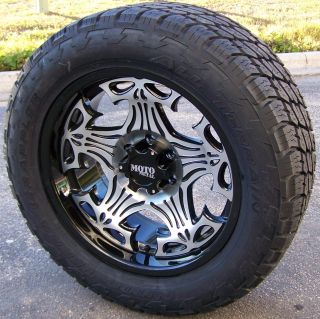 17 Motometal Skull Wheels Nitto Terra Grappler Tires Chevy GMC 4x4