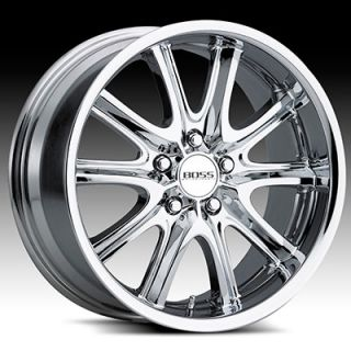 20 x10 Boss 336 3366 Chrome Wheels Rims 5 Lug