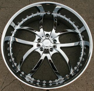 STYLE 406 24 CHROME RIMS WHEELS BMW 645 650 CAPRICE / 24 X 9.5 5H +18