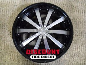 USED 20x8.5 5x115 5 115 ACE Executive Black Machined Face Wheels/Rims
