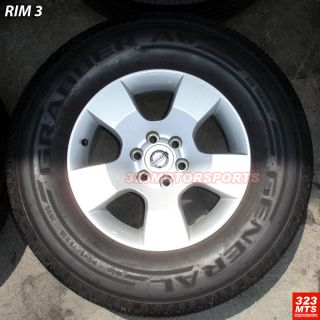 16 Used Nissan Truck 6LUG Wheels Uniroyal Tires