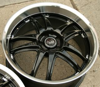 Decadence 20 Glossy Black Rims Wheels Lexus LS430 Staggered