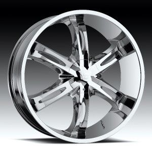 24 inch Vision Hollywood 6 Chrome Wheels Rims 5x120 8