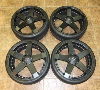 Set 20x8 KMC Rockstar 5 Spoke Rims & 225/30ZR20 Tires Great Shape VW
