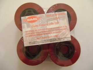 Sims Street Python Skateboard Wheels 72mm 80A Trans Red