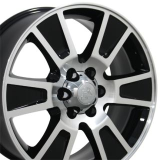 20 Fits F 150 Style Wheel Black MachD Face 20x8 5