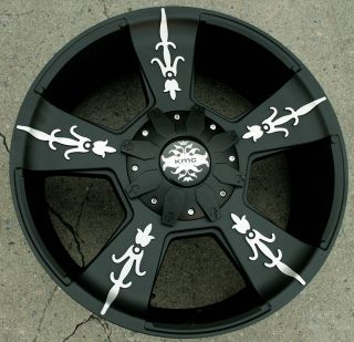 KMC Vandal 668 22 Black Rims Wheels GMC Yukon Denali XL 07 Up 22 x 9