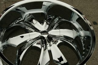 Strada Faccia 22 Chrome Rims Wheels Cadillac cts STS DTS GM 22 x 8 5