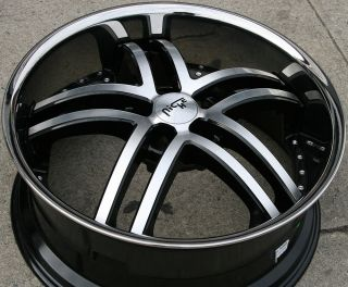 NICHE ESSENCE M877 22 BLACK RIMS WHEELS INFINITI M35 06 up / 22 x 9.0