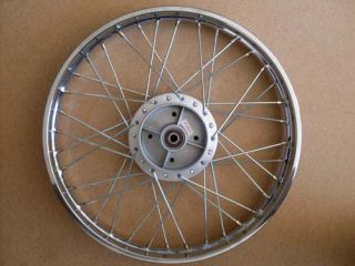 You are bidding on a complete REAR wheel (1.40x17) as shown