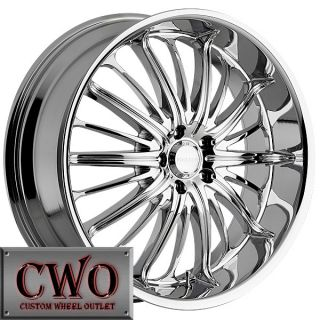 26 Chrome Akuza Belle Wheels Rim 5x115 5 Lug 300C 300 Charger