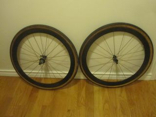 CORIMA CARBON FIBER TUBULAR RACE WHEELS 650C 50MM FAIRING FRONT & REAR