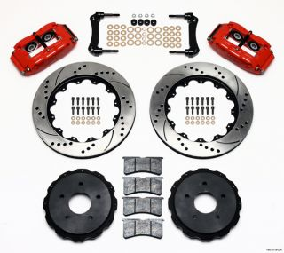 Wilwood Disc Brake Kit 05 09 Corvette C 6 14 Red Drill