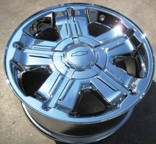 NEW 18 FACTORY AVALANCHE SILVERADO SUBURBAN TAHOE CHROME RIMS WHEELS
