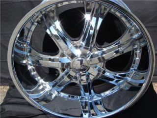 24 Wheels Rims Package Free Tires U2 55 Triple Chrome Deep Lip 6x135