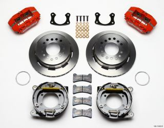 Wilwood Disc Brake Kit 65 69 Ford Mustang 11 Rotors Red Calipers