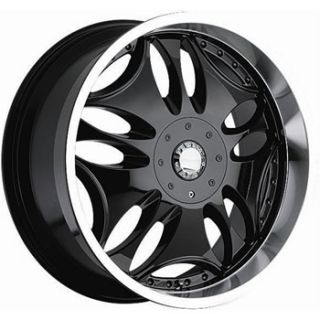 20x9 Panther Groove 6x135 Black Rims Wheels F 150 Expedition Navigator