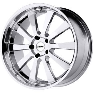New 18x8 5x114 3 TSW Londrina Chrome Wheels Rims