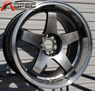 18x9 5 Rota P 45R2 5x114 3 15 Royal Hyper Black Wheel Fits EVO 8 9 X