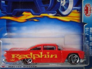 Hot Wheels 2003 Pride Rides 59 Chevy Bel Air Redphin