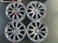 Chrysler 300 300C Factory Chrome Clad 18 Wheels Rims OEM 2418 Charger