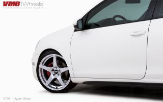 19x8 5 VMR 705 Hyper Silver Wheel 5x112 Fit VW CC Golf GTI Jetta