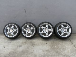 Porsche 911 997 Carrera Lobster Claw Wheel Rims Tires Set Used