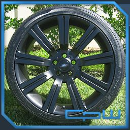 BLACK LAND ROVER RANGE SPORT LR3 STORMER II WHEELS RIMS TIRES NEW