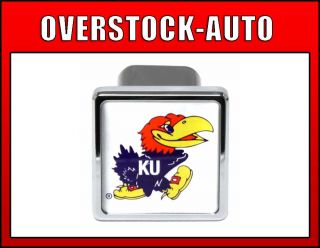Pilot 2 inch College Trailer Hitch Cover Kansas Jayhawks NCAA Logo