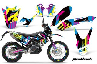 AMR KTM Graphic Kit Sticker Decal 690 SM Endo Number Plate Background