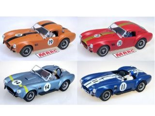 MRRC Shelby Cobra Four Car Set Hardtop and Convertible 1 32 Slot Car