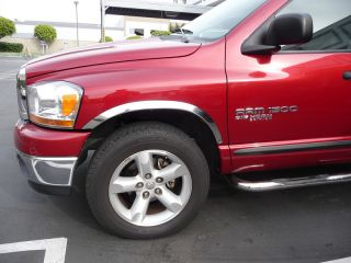 2002 2008 Dodge RAM Stainless Steel Fender Trim by Chrome Accessories