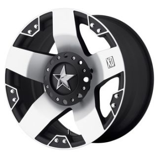 18 inch Black M Wheels XD775 Rockstar Chevy Dodge 2500 3500 Trucks 8