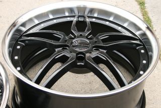 GIOVANNA CALIFIVE L5 20 BLACK RIMS WHEELS NISSAN MAXIMA / 20 X 8.5/10
