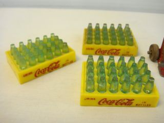 Vintage Marx Tin Pressed Steel Coca Cola Coke Truck Bottle Cases and