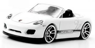 Hot Wheels White Porsche Boxster Spyder Diecast Vehicle 2012 HW