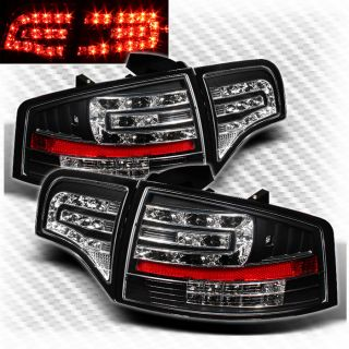 2005 2008 Audi A4 S4 B7 Black LED Tail Lights Lamp Pair Brand New Left