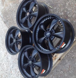 Black Mustang Bullitt Wheels 18x9   18 Deep Dish 18 INCH rims 2005