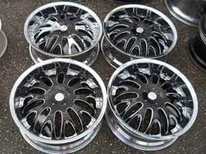 Rock Starr 20 Chrome Black Alloy Wheel Rims for Audi