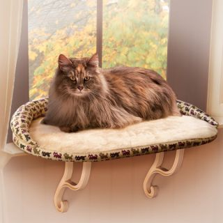 K&H Pet Products Deluxe Kitty Sill with Bolster   Window Perches   Beds
