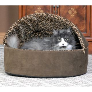 K&H Pet Products Thermo Kitty Deluxe Hooded Heated Bed   Cat   Boutique