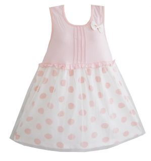 Girls Dress Pink Dot Dress Children Clothing SZ 3 4 Y