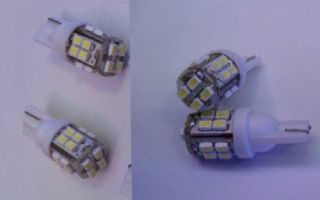 10PCS T10 W5W 194 168 501 Car White 20 SMD LED Inverted Side Wedge