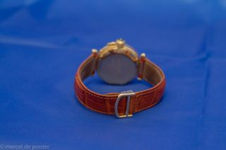 CARTIER Pasha 38mm 18K Gold /Cartier Croco Lederband 1990 excellent