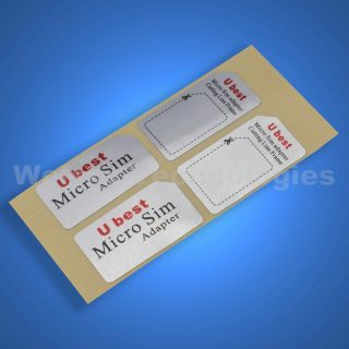 Micro SIM Card Adapter to Regular for iPHONE 4 4G 4s iPad 1 2 3