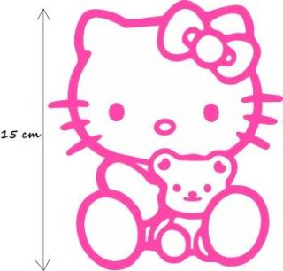 Cute Hello Kitty Teddy Bear Auto AUFKLEBER Sticker E