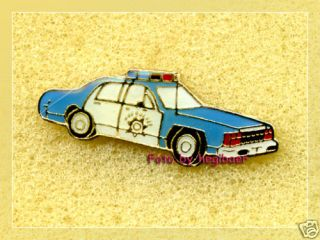 Police Car USA Auto Polizei Button Badge Pin Pins Anstecker 346